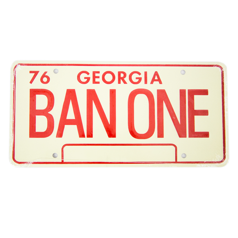 Muscle Car Decals >> - Smokey and the Bandit Trans Am BAN ONE License Plate #CP ...
