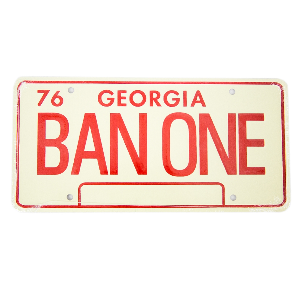 Muscle Car Decals >> - Smokey and the Bandit Trans Am BAN ONE License Plate #CP-1510-18