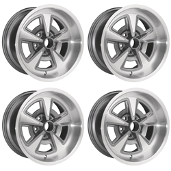 17X9 Pontiac Rally II Cast Wheels Full Set