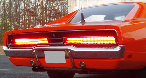 1969 1970 Dodge Charger Led Tail Light Panels New Design
