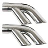 "1976-1981 Trans Am Performance Exhaust 2.5"" to Dual 2.25"" Stainless Split Tips"