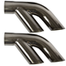 "1976-1981 Trans Am Performance Exhaust 2.5"" Stainless Split Tips (Black Chrome) - CP-1510-01"