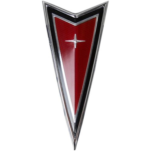 1977 81 New Pontiac Firebird Trans Am Front Panel Crest Emblem Red