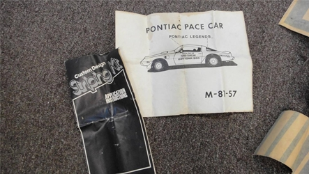 1981 Trans Am Turbo Nascar Pace Car Decal set NOS