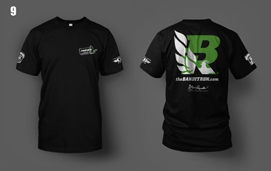 2017 Bandit Run Black w/green T-shirt