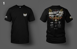 2017 Bandit Run Event T-Shirt Black  2017 Bandit Run , Short Sleeve Shirt