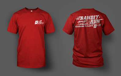 2017 Bandit Run T-Shirt Red  2017 Bandit Run , Short Sleeve Shirt
