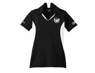 2017 Bandit Run Womens Black and White polo