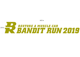 2019 Bandit Run Decal Silver & Gold