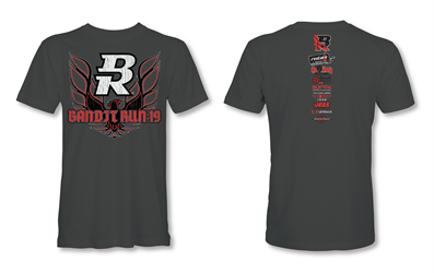 2019 Bandit Run Event T-Shirt Gray 2019 Bandit Run , Short Sleeve Shirt , Trans AM, WS6, Firebird
