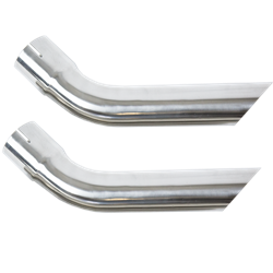 "70-76 Trans Am Firebird 2.5"" to 2.5"" Slip-Fit Stainless Exhaust Tips EXTENSIONS"