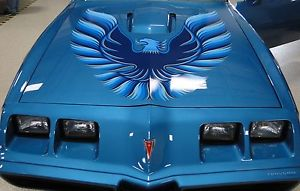 1978-1980 Pontiac Trans Am Blue Red Gold Decals Kit Bird