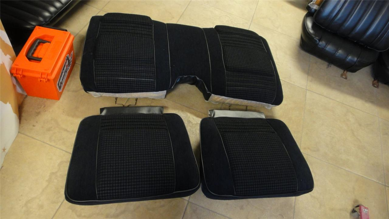 79 80 Firebird Trans Am Custom Cloth Hobnail Seat Covers