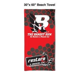2018 Bandit Run Beach Towel - RED 2018 Bandit Run, Bandit Run, Trans AM, Firebird, Formula, WS6