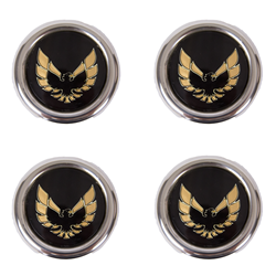 Metal Gold Snowflake Center Caps Set of Four