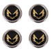 Metal Gold Snowflake Center Caps Set of Four - WH-1510-06