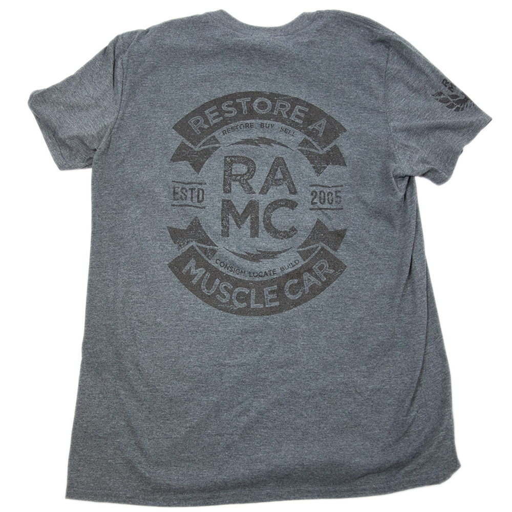 - NEW Grey & Black Restore A Muscle Car RAMC T-Shirt FREE