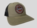 NEW RAMC- LOCALLY CRAFTED TRUCKER SNAPBACK HAT, OLIVE GREEN - RAMC LC TSB OL GRN