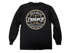NEW RESTORE A MUSCLE CAR BLACK LONG SLEEVE