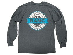 NEW RESTORE A MUSCLE CAR GRAY LONG SLEEVE