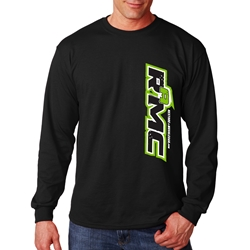 RESTORE a MUSCLE CAR Long Sleeve Shirt BLACK & GREEN Unisex with Back Tread