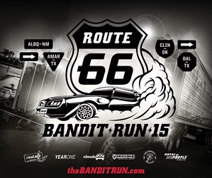Restore A Muscle Car The Bandit Run 2015 Route 66 Banner BR15