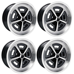 "Set of 4 17"" x 9"" Cast Aluminum Magnum Wheels 5.125"" Backspacing"