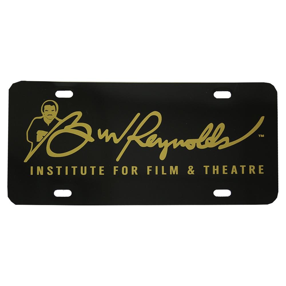 Burt Reynolds Institute Gold Amp Black Vanity Plate